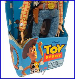 Official Disney Original Thinkway Toy Story Pull String Woody Doll in Box Rare