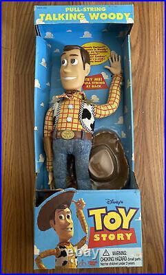 Original 1995 Disney Toy Story Woody Pull String Talking Doll Sealed In Box