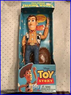 Original Disney's Toy Story Pull-String Talking Woody Doll 16 1995 Think Way