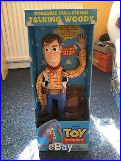 Original Pullstring Talking Woody. Toy Story DISNEY PIXAR figure Doll BNIB 61810