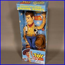 Original Vintage 1995 Toy Story DISNEY PIXAR Pull-String TALKING WOODY Thinkway