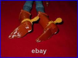 PIXAR Walt Disney Toy Story 1995 Thinkway Original 16 COWBOY WOODY DOLL talks