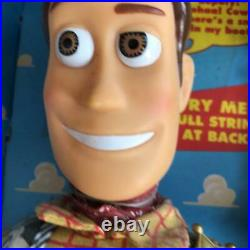 Pull String Talking Woody Walt Disney Toy Story Parlant Doll 1st Edition Used