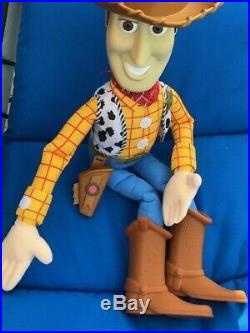 RARE Disney Pixar Toy Story Giant Jumbo Woody 30 Huge Plush Doll VINTAGE