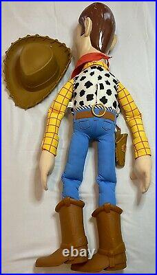 RARE Disney Pixar Toy Story Giant Woody 32 Plush 3 Foot Vintage Doll withHat