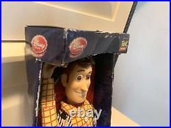 RARE Disney Store Exclusive Toy Story Talking Woody Doll HTF New In Box! NIP