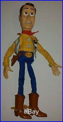 RARE HTF Disney Pixar Toy Story Pull String Talking Fire Fightin Woody 13.5
