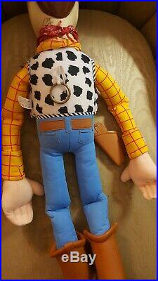 RARE Toy Story JUMBO Large 32 Woody Doll With Hat & Holster 2001 Mattel
