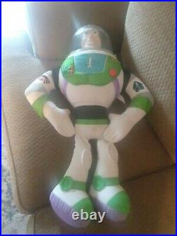 RARE Vintage Disney Toy Story Large Woody Doll 32 & Large Buzz Lightyear 26