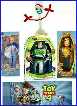 REAL USA Toy Story 4 TALKING toys dolls Woody Buzz FORKY figures LOT OF 4 DISNEY