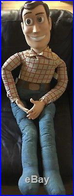 Rare Vintage Large 4 Tall Toy Story Woody Doll Thinkway Toy Walt Disney