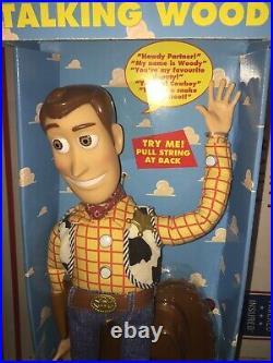 Reissue Toy Story DISNEY PIXAR Original Pull-String TALKING WOODY Thinkway