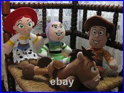 Set AH Disney Europe Toy Story 4 Dolls Nicotoy Woody Buzz Jessie Bullseye Rare