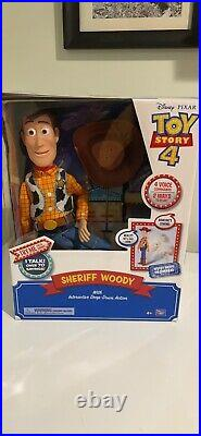 Sheriff Woody Interactive Drop Down Action Doll New In Box