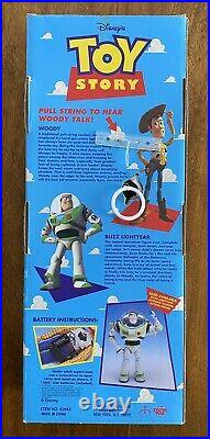 TALKING WOODY Pull String 1995 Toy Story DISNEY PIXAR Original Box Thinkway Doll