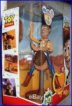 TOY STORY Huge Talking WOODY Mattel BULL RIDIN' Figure Doll FOREIGN MIB Disney