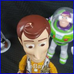 TOY STORY Lot Pull String Talking Woody & Jessie Dolls Buzz Slink With Hats