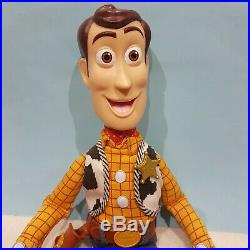 TOY STORY TALKING Pull String 15 Woody Doll and Hat -There's a snake in boot