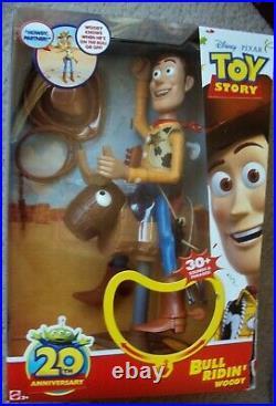 TOY STORY Talking WOODY Mattel BULL RIDIN' HUGE Figure Doll FOREIGN MIB Disney