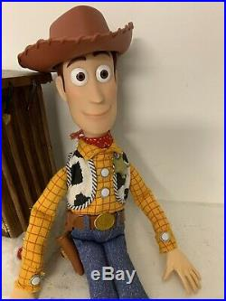 Talking Woody CUSTOM Toy Story 1 Movie Replica Doll WITH Removable Badge