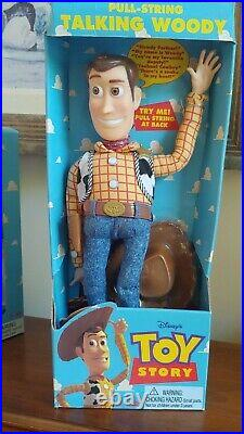 Talking Woody Toy Story Pull String Thinkway Toys 1995/96 NEW in Box Speaks