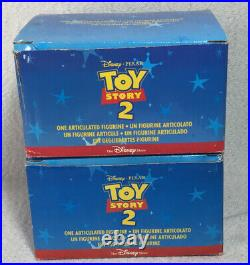 The Disney Store Pixar 6 inch Toy Story 2 Lot-Woody & Buzz Articulated Figure