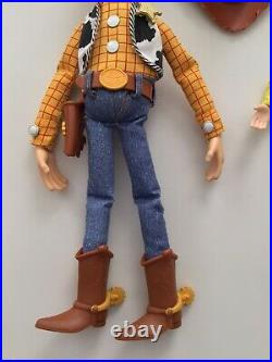 Thinkway Disney Toy Story Talking Woody Jessie Buzz Lightyear Dolls Pull String