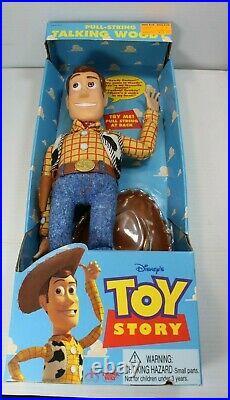 Thinkway Pixar PULL STRING TALKING WOODY Toy Story Disney Doll Figure Original