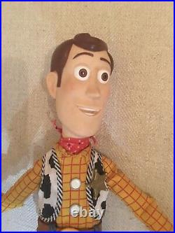 Thinkway Toy Story Talking Woody Doll With Hat Pull String Works Vintage