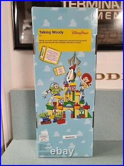 Toy Story 16'' TALKING WOODY DOLL Pull String Disney Parks New