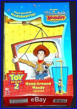 Toy Story 2 Hang Around Woody Marionette Disney 1999 Mint in Package Mattel
