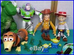 Toy Story Talking Action Figures Woody Buzz Jessie Rex Bullseye Slinky