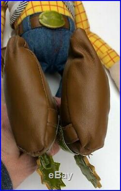 Toy Story 2 Sheriff Woody cowboy doll hard face soft body Disneyland Resort 18