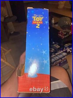 Toy Story 2 Strummin' Singin' Woody Unused Mattel Doll 1999