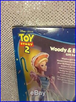 Toy Story 2 Woody & Bo Peep Disney Muñeca Set de Regalo 1999 Mattel 23785 NRFB
