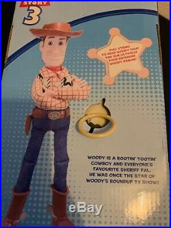 Toy Story 3 Disney Parks Exclusive Talking Woody 15 Inch Doll New In Box