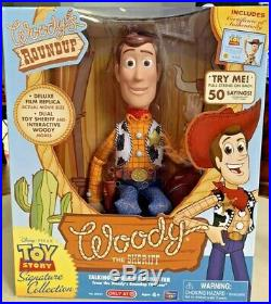 Toy Story 4 Woody's Roundup Woody The Sheriff Talking Doll With Holster (New)