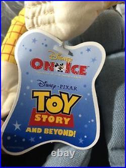 Toy Story Disney On Ice Rare Plush Woody & Jesse Originally Tour Bag All New