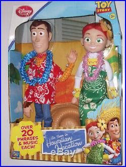 Toy Story Hawaiian Vacation Woody Jessie 2-pack Disney Excl Rare Figure Doll New