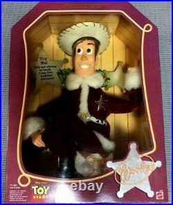 Toy Story Holiday Hero Series Woody Santa Claus Talking Figure Doll MATTLE 1999