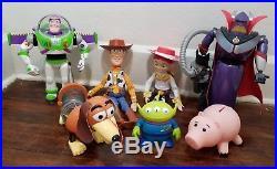 Toy Story Jessie & Woody Pull String Dolls, Zurg, Buzz, Hamm, Alien, Slink Lot