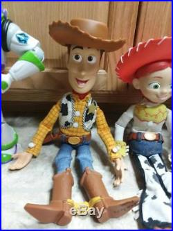 Toy Story Lot Thinkway Pull String Woody Jessie Buzz Zurg Doll Talking RC