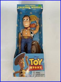 Toy Story Poseable Pull-String Talking Woody Thinkway 1995 original Disney
