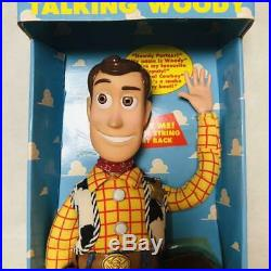 Toy Story Poseable Pull-String Talking Woody Thinkway 1995 original Disney F/S