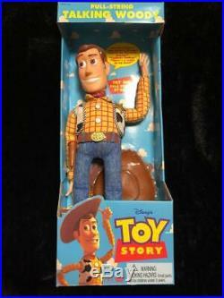 Toy Story Poseable Pull-String Talking Woody Thinkway 1995 original Disney Pixar