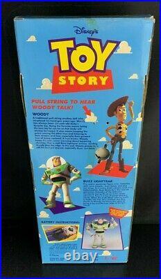 Toy Story Pull String Talking Woody- 16.5 Think Way Disney Pixar (In Box)