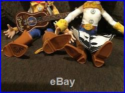 Toy Story Pull String Talking Woody, Jessie Dolls with Hats & Guitar