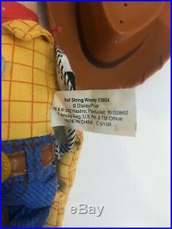 Toy Story Pull-string Talking Woody 03854 N Jessie 03831 Doll Pair Disney Store