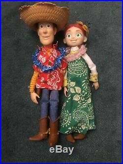 Toy Story Rare Woody And Jessie Hawaiian Vacation Dolls Disney Pixar Complete