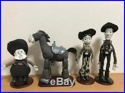 Toy Story Roundup Woody Jessie Bullseye Prospector Monochrome Figure 4 set Used